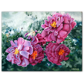 Original acrylic painting on canvas artistjillian roses Jillian Crider