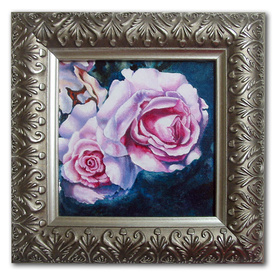 Original acrylic painting on canvas pink roses French perfection pink artistjillian Jillian Crider SFA square