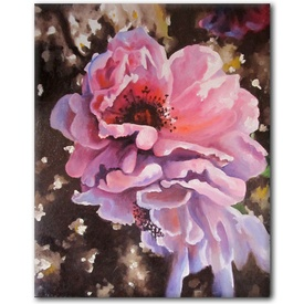 Sunburst pink rose oil on canvas linen SFA original