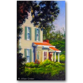 Original oil painting Georgia heritage house southern Acworth artistjillian